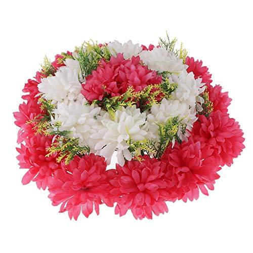 Tubayia Künstliche Grabblumen Seidenblumen Kunstblumen Kranz Grabschmuck Grabgesteck (Rosa)