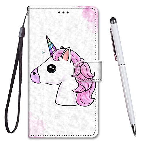 TOUCASA für iPhone 6S Hülle, Handyhülle für iPhone 6,Premium Brieftasche PU Leder Flip [Kreativ Gemalt] Case Handytasche Klapphülle für Apple iPhone 6S / iPhone 6 (4,7 Zoll),Einhorn