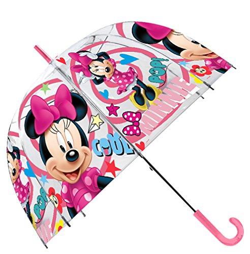 Disney Ombrello Trasparente 48 cm Campana Manuale Ombrello Classico, 80 cm, Multicolore