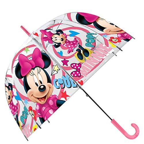 Disney - Ombrello trasparente da 48 cm, con campana, manuale di ombrello classico, 80 cm, multicolore