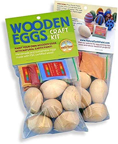Wooden Eggs Craft Kit by Natural Earth Paint