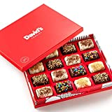 David's Cookies Fresh-Baked Brownie Bites Gift Baskets, 1.1oz Mini Chocolate-Covered Brownie Morsels with Eye Popping Toppings, Birthday Christmas Holiday Get Well & Corporate Gourmet Food Gift