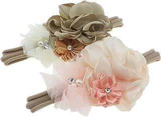 Baby Girls Floral Headbands Nylon Hair Band for Newborn...