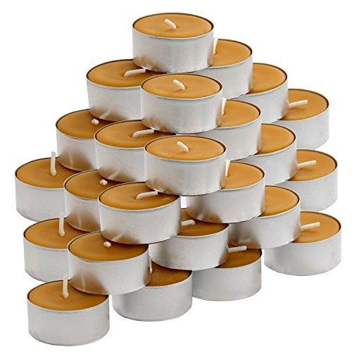 Bütic GmbH Bienenwachs Teelichter mit 100% natürlichem Bienenwachsduft, Größe:30er Set