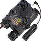 ACTIONUNION Airsoft PEQ 15 PEQ Box IR Laser + Red Laser Sight + White LED Flashlight for AEG GBB CQB (Black)