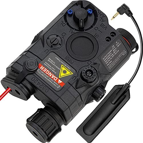 ACTIONUNION Airsoft PEQ 15 PEQ Box IR Laser + Red Laser Sight + White...