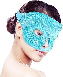 Cara Máscara de ojos de hielo para durmiendo, rejilla de