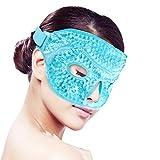 Glace Masque de sommeil pour les Visages/yeux pour femme homme,Thérapie Chaud/Froid pour la douleur faciale, dormir, gonflement, Migraines, maux de tête, Soulagement du stress [Bleu]