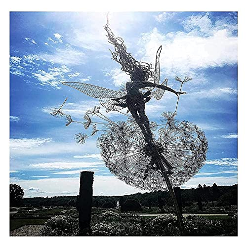 Duvets Feeën- en paardenbloem danst samen Yard decoraties-tuindecoratie metaal,Fairy Bloom tuindecoratie,tuin…