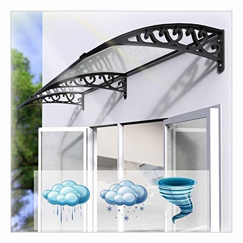 LIANGLIANG Vordach Haustür Überdachung, Transparent PC Endurance Board Flammhemmend Antialterung, Benutzt Für Traufe Fenster Kleiderkabine (Color : Transparent, Size : 200x80cm)