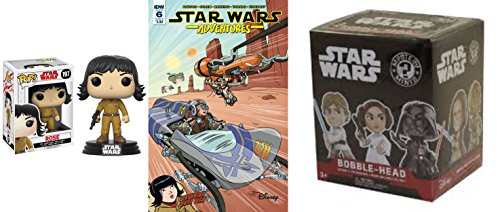 pop Star Wars Bundle of 3, Includes Funko #197 Rose, Star Wars Mystery Mini Bobble Head, and IDWs Star Wars Adventures Issue #6 Cover B Comic Book image
