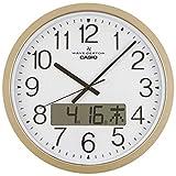CASIO(カシオ) 掛け時計 電波 ゴールド アナログ プログラム 時報 機能 カレンダー 表示 IC-4100J-9JF 38×38×5.8cm