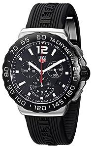 TAG Heuer Men's CAU1110.FT6024 Formula 1 Black Dial Black Rubber Strap Quartz Watch image