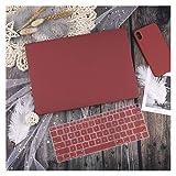 GYY Funda de Cuero/Tela para MacBook Air 13 A2338 M1 A2179 A2337 A1932 Pro 13 15 A2159 A1466 A1708 Tapa Dura + Teclado (Color : Wine Red, Size : Model A1502 A1425)