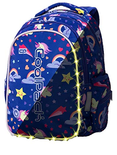 Prime Rucksack LED-Pack Mädchen Jungen Schulrucksack 23 L Joy M Schultasche Bag Backpack mehrfarbige LED New Unicorns Einhörner 1 [006]