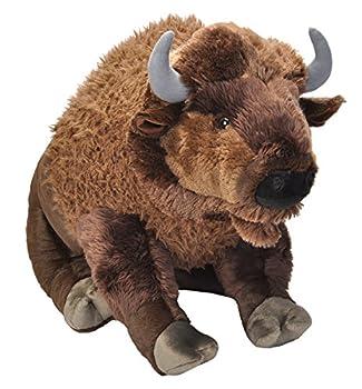 Wild Republic Jumbo Bison Plush Giant Stuffed Animal Plush Toy 30  Multi Model 19307