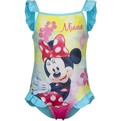 4786 Kinder Baby Badeanzug Disney Minnie Mouse Minnie Maus Mädchen Beachwear (blau, 9 Monate)