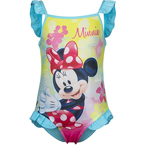 4786 Kinder Baby Badeanzug Disney Minnie Mouse Minnie Maus Mädchen Beachwear (blau, 9 Monate)
