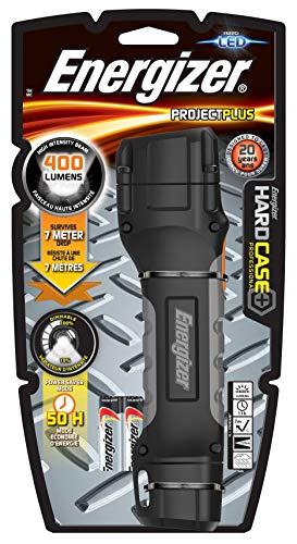 Energizer - Linterna LED Hardcase ProjetPlus, 400 LM, Intensidad Regulable, resitente a Agua y caidas, Pilas Incluidas
