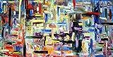Persistenze olio su tela 240x120cm Pintura con espátula con pinturas al óleo y acrílicas, arte de muebles modernos, arte contemporáneo, arte abstracto, paisajes modernos