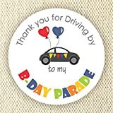 Quarantine Birthday Party Stickers- Birthday Party during Social Distance Stickers - Driving by Birthday Party Favor Stickers - Set of 40 stickers