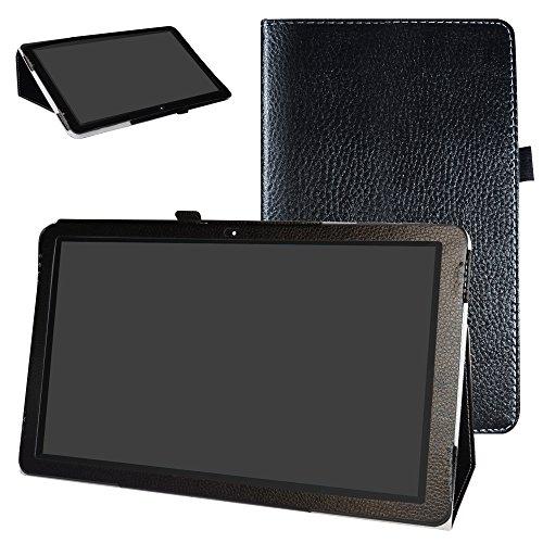 Mama Mouth TREKSTOR SurfTab Theater 13.3 Funda, Slim PU Cuero con Soporte Funda Caso Case para 13.3' TrekStor SurfTab Theater 13.3 Android Tablet PC,Negro