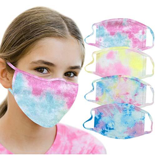 PPangUDing Mundschutz Multifunktionstuch Kinder Waschbar Wiederverwendbar Baumwolle Atmungsaktive Staubdicht Bandana Schlauchtuch Halstuch für Junge und Mädchen