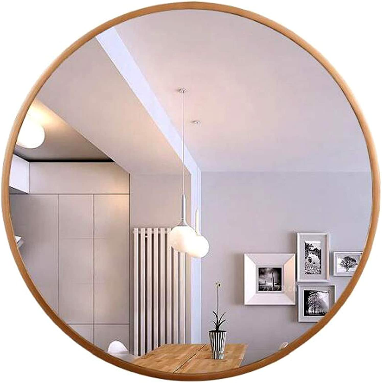 Wall Mirror Wall-Mounted Bathroom Mirror Bathroom Vanity Mirror Living Room Bedroom Vanity Mirror Frameless Round Bathroom Wall Mirror (color   gold, Size   70x70cm)
