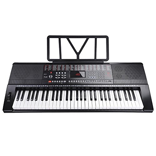 Sale!! Electronic Keyboard 61 Keys Portable Piano Full Size USB LCD Display 20 Demo Songs 3 Lesson M...