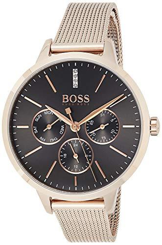Hugo Boss 1502424 Multi-wijzerplaat kwarts horloge met roestvrij stalen armband