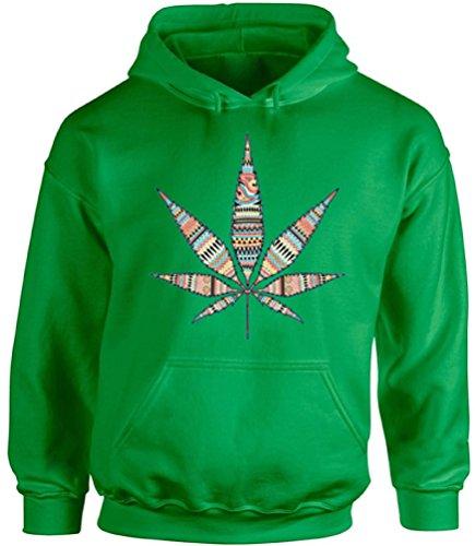 Awkward Styles Unisex Marijuana Leaf Cute Hoodie Hooded Sweatshirts for Cannabis Lovers Green 3XL