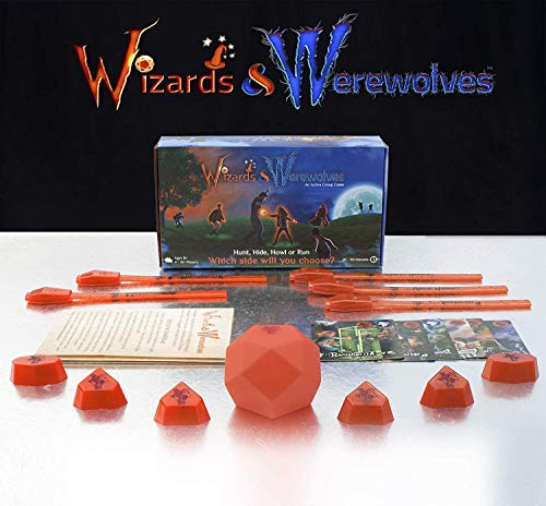 Starlux Games Wizards & Werewolves: an Active Outdoor Group Game with Hide and Seek, Tag and Glow-in-The-Dark Elements - Perfect Werewolf Game for RPG, DND, LARP and Costume Fantasy Fans