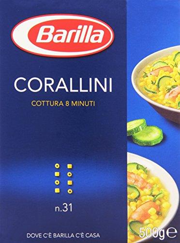 Barilla–corallini, cocinar 8minutos–500g