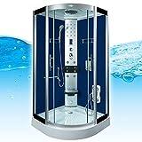 AcquaVapore DTP8058-2202 Dusche Dampfdusche Duschtempel Duschkabine 100x100, EasyClean Versiegelung der Scheiben:2K Scheiben Versiegelung +89.-EUR