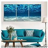MULMF Cuadro En Lienzo Imprimir Azul Océano Arte De La Pared Imagen Vista Al Mar Vista Inferior...