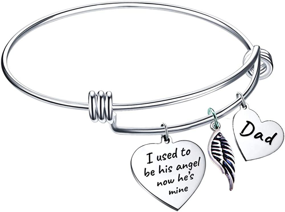 Dad Memorial Tucson Mall Bangle I Used to His Sympathy be excellence Loss Angel Gif