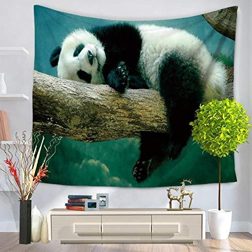 YUANOMWJ Tapiz De Pared,Animal Panda Blanco Y Negro De Rama De Árbol,Arte De Pared Y Decoración del Hogar para Dormitorio,Sala De Estar,Decoración De Dormitorio,75X90Cm