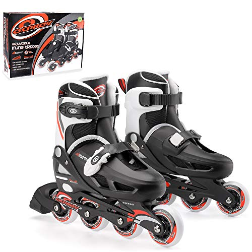Osprey Boys Inline Skates- Patines en línea para niño, Multicolor (Black/White/Red), talla 33-37 EU (1-4 )
