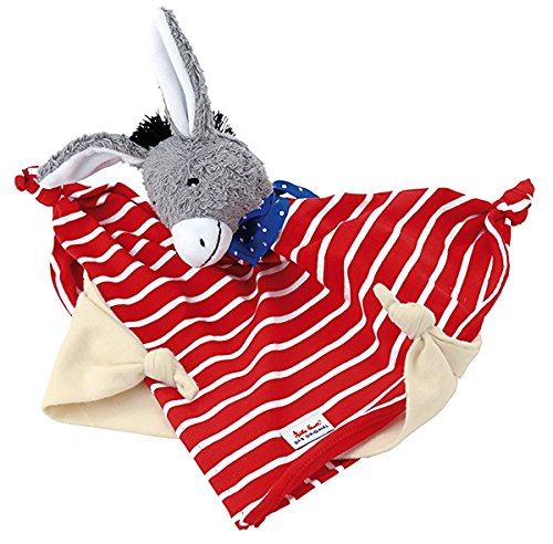 Esel, grau, rot-weiß, ab 0 Monaten, 30 cm