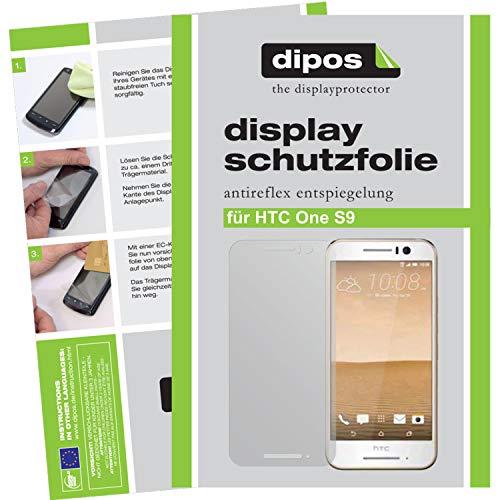 dipos I 2X Schutzfolie matt kompatibel mit HTC One S9 Folie Bildschirmschutzfolie