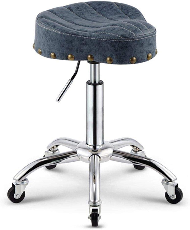 FENGFAN Saddle bar Chair-bar Stool Coffee Chair high Stool Makeup Stool Beauty Stool Home Chair Lifting Cash Register Chair Retro Work Bench (color   E)