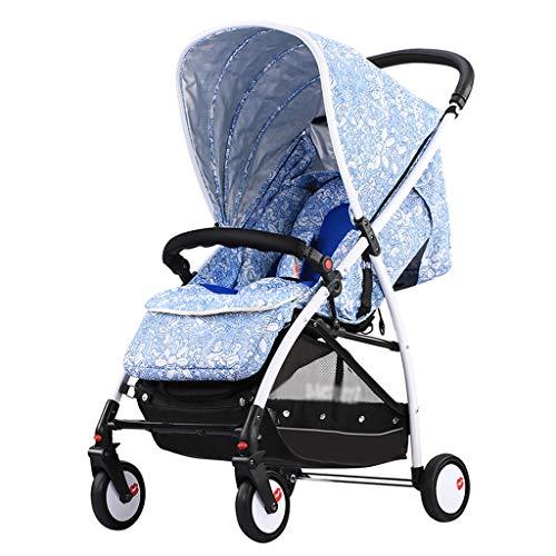 Gute Qualität Kinderwagen Buggys Leichter zusammenklappbarer Kinderwagen, Einknopf-zusammenklappbarer tragbarer Kinderwagen mit hohem Landschaftsdruck und Stoßdämpfungsfunktion Baby Standardkinderwage
