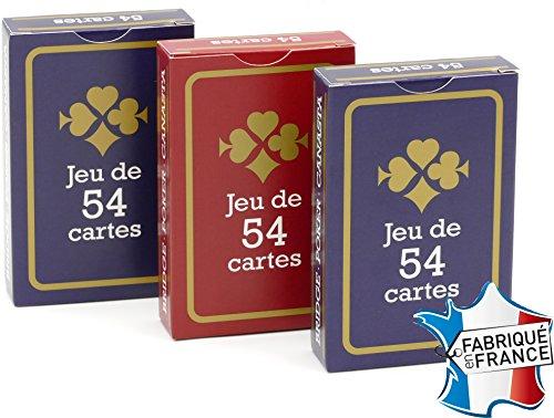France Cartes - Jeu de 54 Cartes - Gauloise Bleue et Rouge -