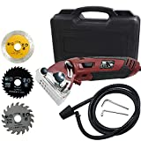 KOXHOX Mini Circular Saw Set High Powered Circular Saw Machine 400W Professional Compact Circular Saw Machine with3 Carbide Tipped Blade Professional Circular Saw for Cut Drywall, Tile, Metal, Wood