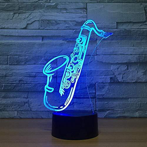 3D-prefeasen-saxofoon met 3D-touch, kleurrijk LED-licht, nachtlampje, cadeau, decoratie voor thuis, tafellamp @ AB-B
