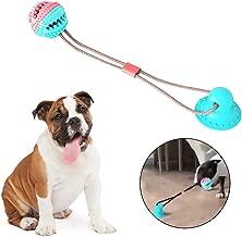 Juguete multifuncional para mordedura de molar para mascotas,juego interactivo interactivo de cachorro resistente a la mordedura y bola de entrenamiento juguete para morder comida con potente ventosa