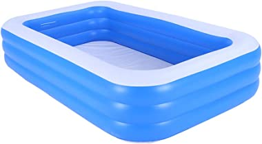 N / A Inflatable Swimming Pools, Thickened Full-Sized Inflatable Pools,Kiddie Pools, Swim Center Pool,for Outdoor Indoor Gard