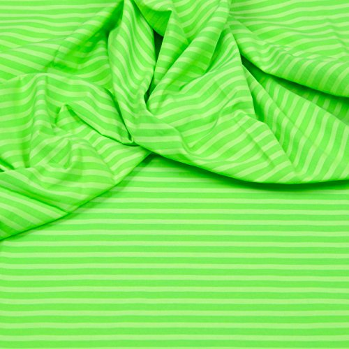 Hilco Neon Shorts Bade/Sportbekleidung neongrün Meterware Swimwear 1 Meter