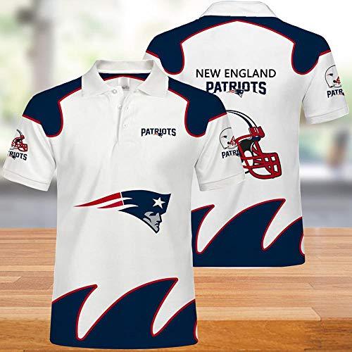 NFL-T-Shirts New England Patriots Männer American Football Trikots Polo Shirts Für Männer Und Frauen T-Shirt Rugby Football Supporters Football Fans Unisex 5XL