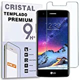 REY Protector de Pantalla para LG K8 2017, Cristal Vidrio Templado Premium